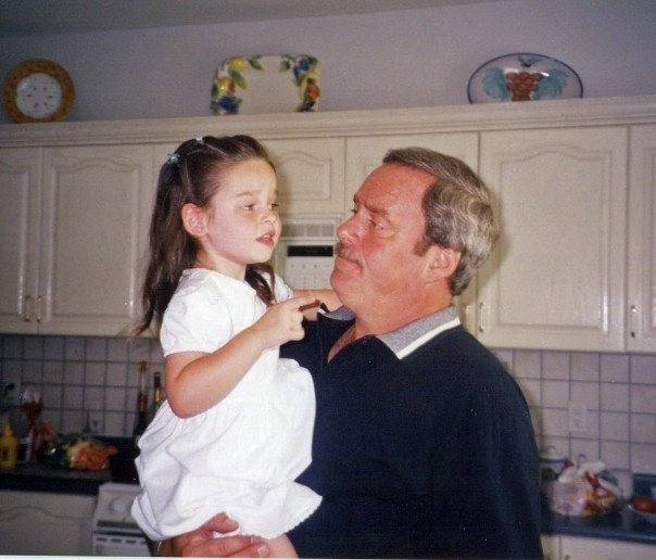 "Alexandra and her ""Poppy"" - this granddaughter/grandfather duo had a special bond!"